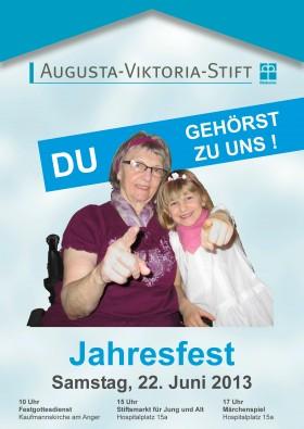 Plakat Jahresfest 2013
